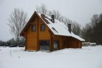Dom całoroczny 130 m<sup>2</sup> bal fi 22 cm.